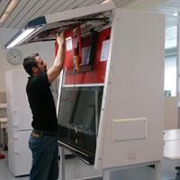 Installation einer Sicherheitswerkbank