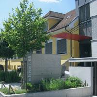 Eingang Firmengebäude Faust Laborbedarf AG