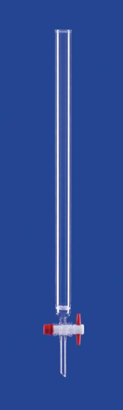 Chromatographie-Säulen, PTFE- oder Ventilhahn, DURAN®-Rohr