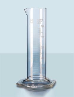 Messzylinder DURAN<SUP>&reg;</SUP>, niedere Form, Klasse B, weiss graduiert