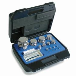 Gewichtssatz E2, Knopfform, im Kunststoffkoffer