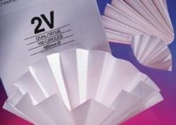 Filtrierpapiere Typ 2 V, qualitativ, Faltenfilter