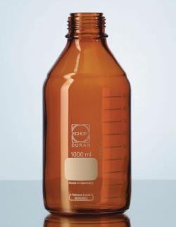 Laborflaschen, DURAN® Braunglas, mit Ringmarke