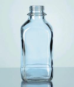 Vierkant-Schraubflaschen, Kalk-Soda-Glas