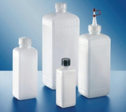 Vierkantflaschen, PE-HD und PVC, Serie 310 Faust Laborbedarf AG Onlineshop