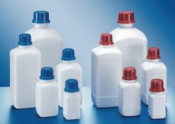 Vierkant-Chemikalien-Enghalsflaschen, HDPE