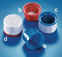 Verschlüsse, mit Originalitätsverschluss, für Chemikalien-Enghalsflaschen, PP Faust Laborbedarf AG Onlineshop