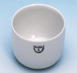 Glühschälchen, Porzellan, zylindrische Form