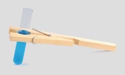 Reagenzglashalter Holz