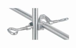 Kreuzdoppelmuffe,18/10-Stahl, Winkel 90° und 180°