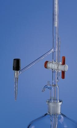Titrierapparat nach Pellet, Borosilikatglas 3.3, mit Zwischenhahn, Klasse AS