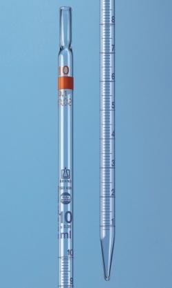 Messpipetten mit v&ouml;lligem Ablauf,  AR-glas<SUP>&reg;</SUP>, Klasse AS, blau graduiert, Typ 2