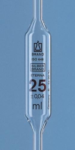 Vollpipetten, AR-Glas®, Klasse B, 1 Marke, braun gradiert