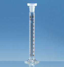 Mischzylinder, Borosilikatglas 3.3, hohe Form, Klasse B, braun graduiert