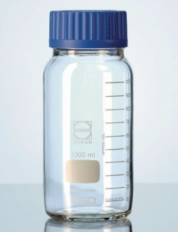 Weithalslaborflaschen GLS 80<SUP>&reg;</SUP>, DURAN<SUP>&reg;</SUP>, klar, mit Schraubverschluss