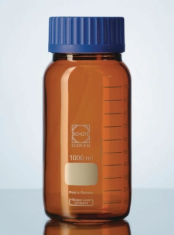 Weithalslaborflaschen GLS 80<SUP>&reg;</SUP>, DURAN<SUP>&reg;</SUP>, braun, mit Schraubverschluss
