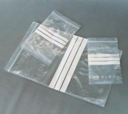 LLG-Druckverschlussbeutel mit Stempelfeld, PE