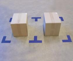 Bodenmarkierungen DuraStripe<SUP>®</SUP> Supreme V, abgerundete Ecken