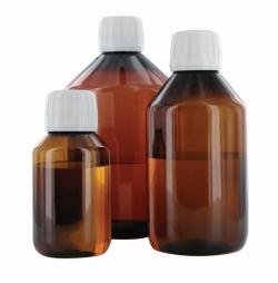 Enghalsflaschen behroplast®, braun, PET