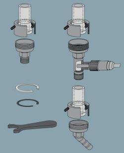 Metalladapter für Heiz- und Kühlschlauchanschluss Faust Laborbedarf AG Onlineshop
