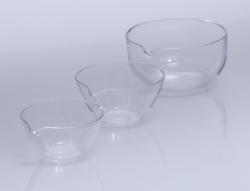 Abdampfschalen, Quarzglas