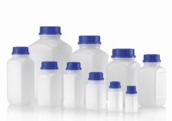 Vierkant-Chemikalien-Weithalsflaschen, HDPE
