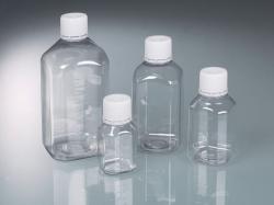 Laborflasche mit Originalitätsverschluss, PET, steril