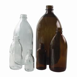 Enghalsflaschen, Kalk-Soda Glas