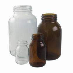 Weithalsflaschen, Kalk-Soda Glas