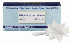 Filtrierpapiere Typ MN 615 1/4, qualitativ, Faltenfilter