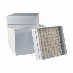 LLG-Kryoboxen, kunststoffbeschichtet, weiss