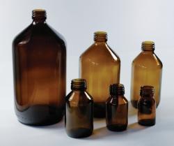 Enghalsflaschen, Kalk-Soda-Glas